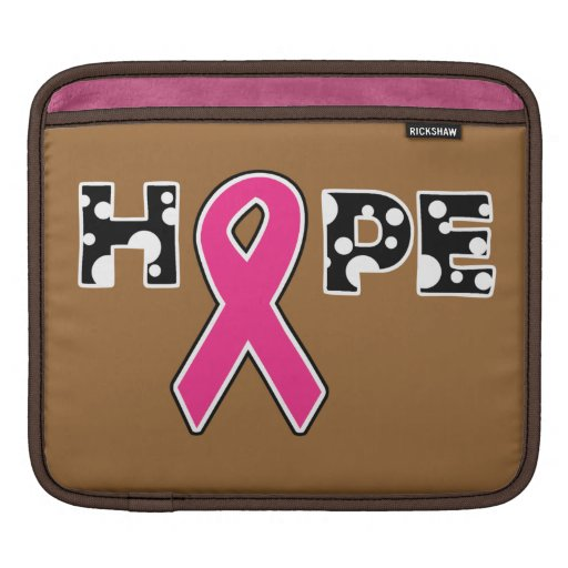 "Breast Cancer ""Hope"" iPad Sleeve"