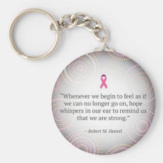 Breast Cancer: Hope key chain. Keychain