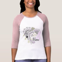 Breast Cancer Hope - Ladies 3/4 Sleeve Raglan T-Shirt