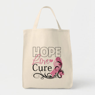Breast Cancer Hope Love Cure Canvas Bag