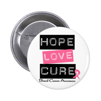 Breast Cancer Hope Love Cure Pinback Buttons