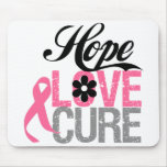 Breast Cancer HOPE LOVE CURE Gifts Mouse Pads