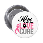 Breast Cancer HOPE LOVE CURE Gifts Pin