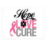 Breast Cancer HOPE LOVE CURE Gifts Post Cards