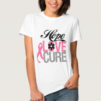Breast Cancer HOPE LOVE CURE Gifts T-shirt