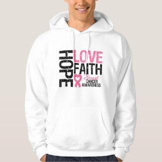Breast Cancer Hope Love Faith Hoodie