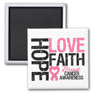 Breast Cancer Hope Love Faith Fridge Magnets