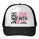 Breast Cancer Hope Love Faith Trucker Hat