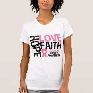 Breast Cancer Hope Love Faith T Shirt