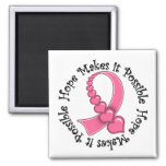 BREAST CANCER Hope Makes it  Possible Magnet