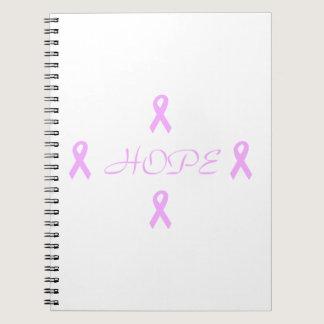 Breast Cancer Hope Spiral Notebook