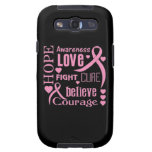 Breast Cancer Hope Words Collage Samsung Galaxy SIII Cover