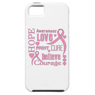 Breast Cancer Hope Words Collage iPhone 5 Case