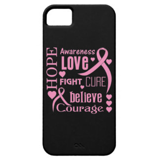 Breast Cancer Hope Words Collage iPhone 5 Covers