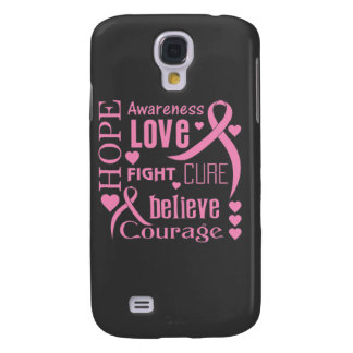 Breast Cancer Hope Words Collage Galaxy S4 Cover