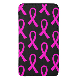 Breast Cancer Hot Pink Ribbon Pattern Galaxy S5 Pouch