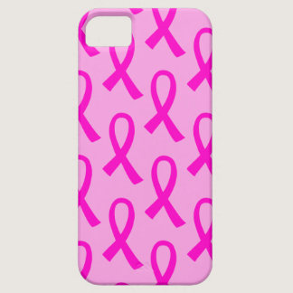Breast Cancer Hot Pink Ribbon Pattern iPhone SE/5/5s Case