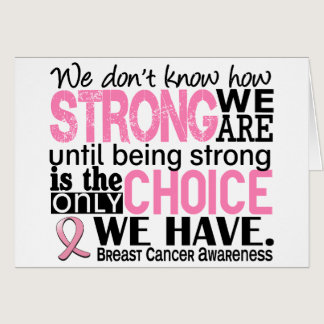 Breast Cancer How Strong We Are Card