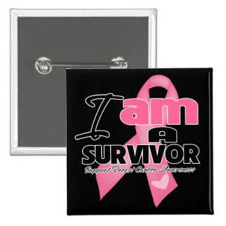 Breast Cancer - I am a Survivor 2 Inch Square Button