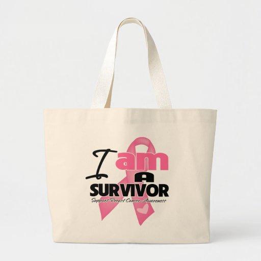 Breast Cancer - I am a Survivor Large Tote Bag
