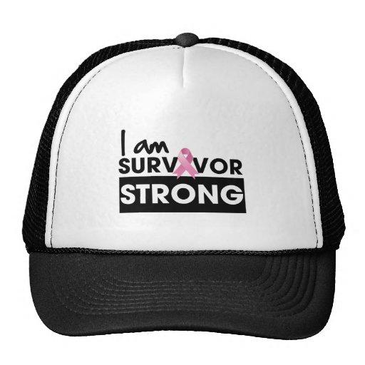Breast Cancer I am Survivor Strong Hats