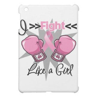 Breast Cancer I Fight Like a Girl With Gloves iPad Mini Cases