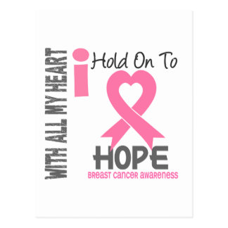 Breast Cancer I Hold On To Hope Postcard