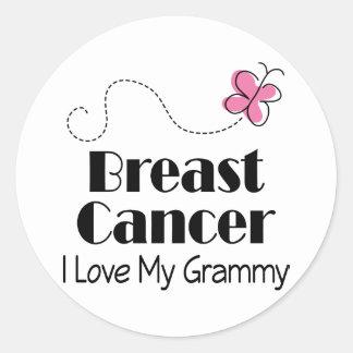 Breast Cancer I Love My Grammy Classic Round Sticker
