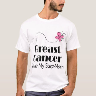 Breast Cancer I Love My Step Mom T-Shirt