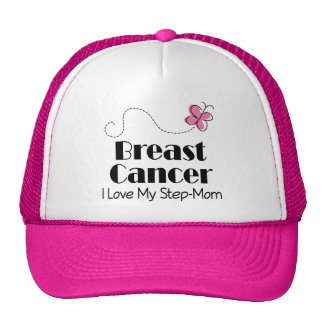 Breast Cancer I Love My Step Mom Trucker Hat