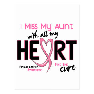 Breast Cancer I Miss My Aunt Postcard