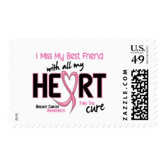 Breast Cancer I Miss My Best Friend Postage Stamp