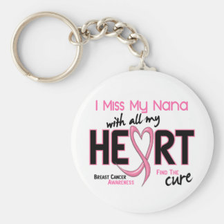 Breast Cancer I Miss My Nana Basic Round Button Keychain