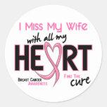 Breast Cancer I Miss My Wife Classic Round Sticker