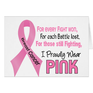 Breast Cancer I Proudly Wear Pink 1 Card