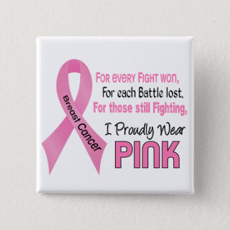 Breast Cancer I Proudly Wear Pink 1 Pinback Button
