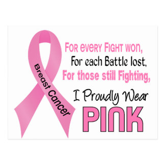 Breast Cancer I Proudly Wear Pink 1 Postcard