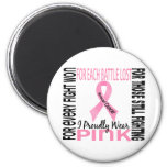 Breast Cancer I Proudly Wear Pink 2 2 Inch Round Magnet