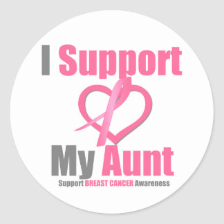 Breast Cancer I Support My Aunt Sticker