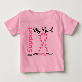 Breast Cancer I Support My Aunt Infant T-shirt