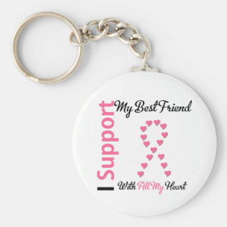 Breast Cancer I Support My Best Friend Key Chain