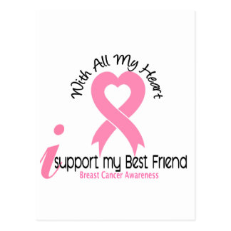 Breast Cancer I Support My Best Friend Postcard