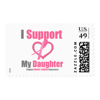 Breast Cancer I Support My Daughter Stamps
