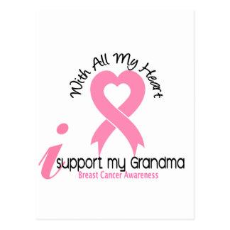 Breast Cancer I Support My Grandma Postcard