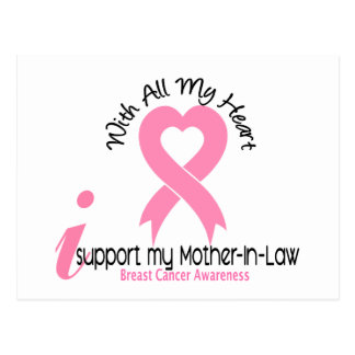 Breast Cancer I Support My Mother-In-Law Postcard