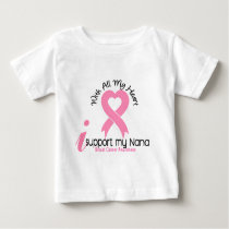 Breast Cancer I Support My Nana Baby T-Shirt