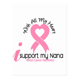 Breast Cancer I Support My Nana Postcard