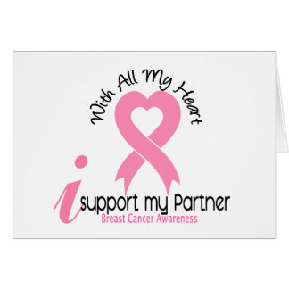 Breast Cancer I Support My Partner Card