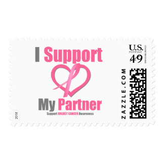 Breast Cancer I Support My Partner Stamps