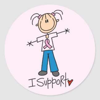 Breast Cancer I Support Tshirts and Gifts Classic Round Sticker